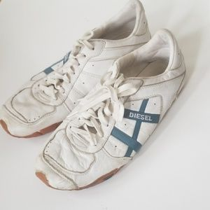 DIESEL shoes used worn size 10 white blue